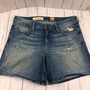 Pilcro and the letterpress Hyphen Denim Shorts